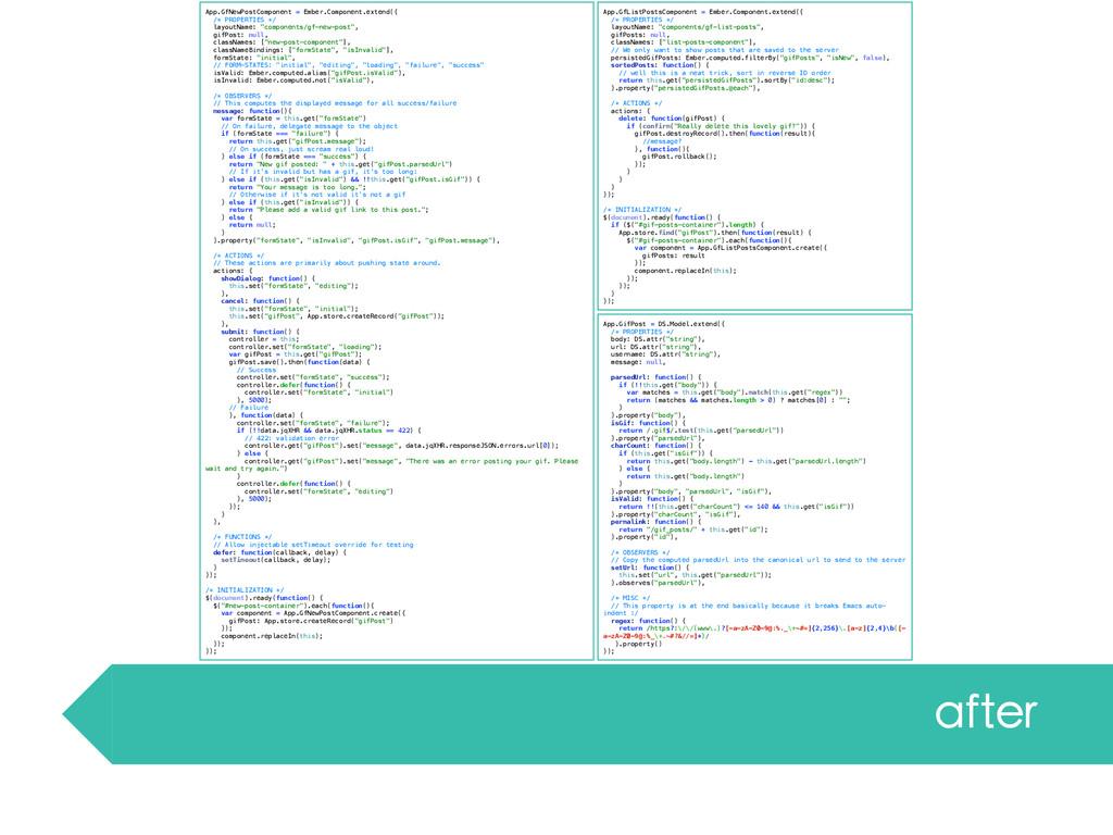 App.GfNewPostComponent = Ember.Component.extend...