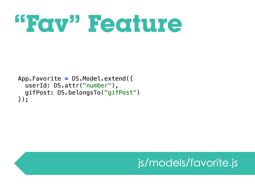 """Fav"" Feature js/models/favorite.js App.Favorit..."