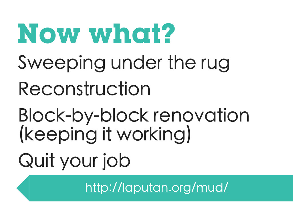 Sweeping under the rug Reconstruction Block-by-...