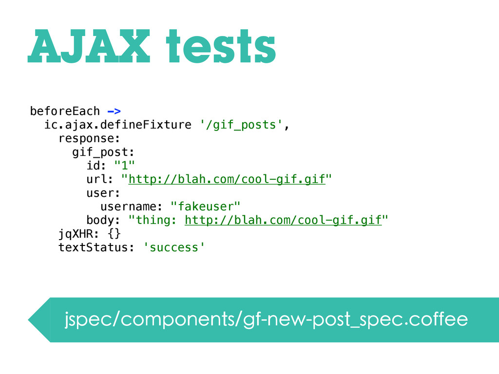AJAX tests jspec/components/gf-new-post_spec.co...