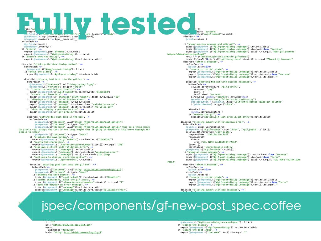 describe 'new post component', -> beforeEach ->...