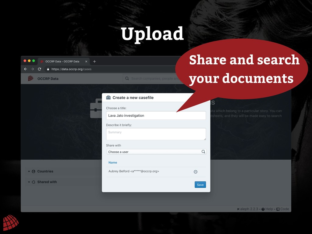 Upload Share and search your documents