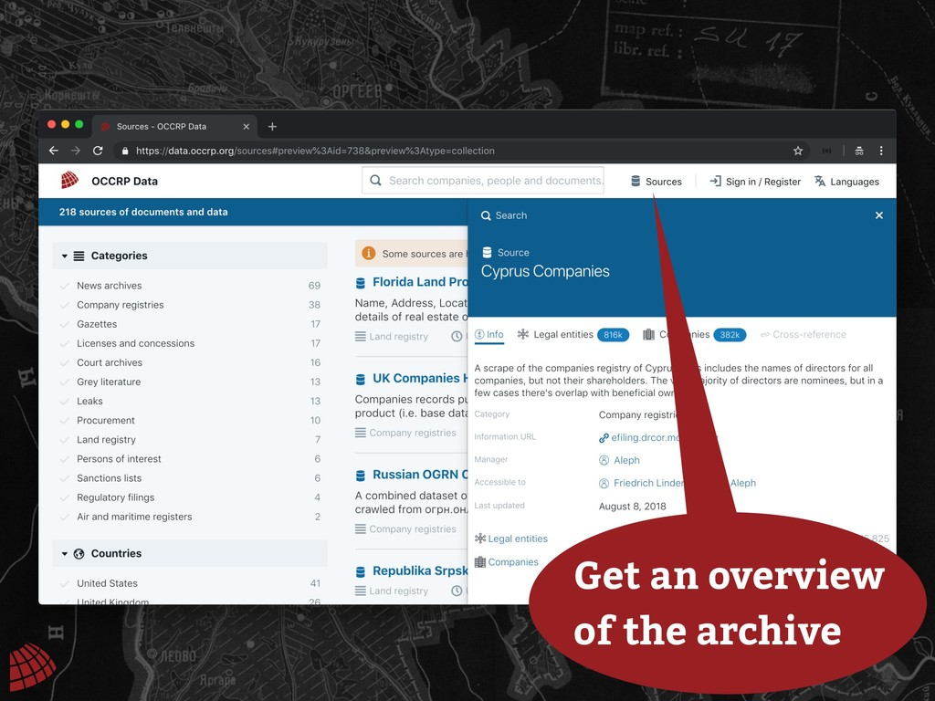 Get an overview of the archive