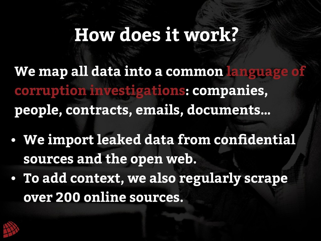We map all data into a common language of corru...