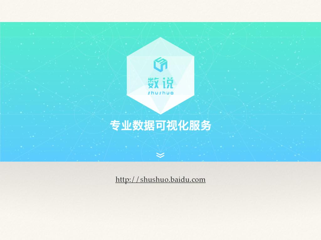 http://shushuo.baidu.com