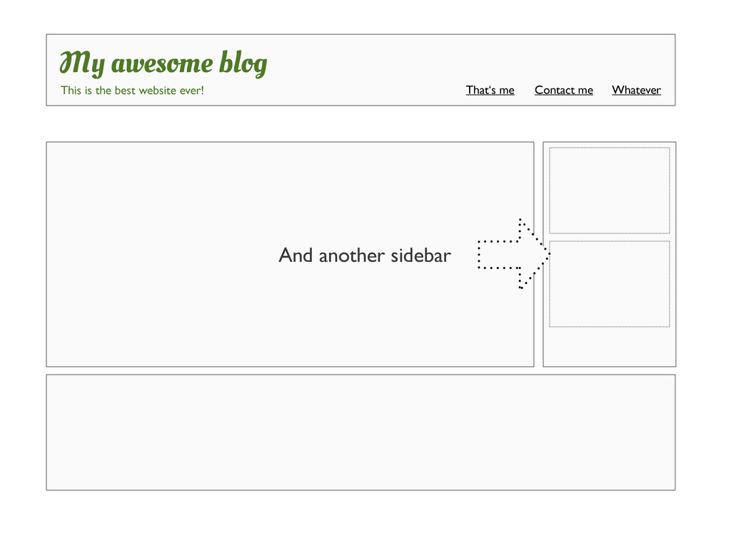And another sidebar My awesome blog This is the...