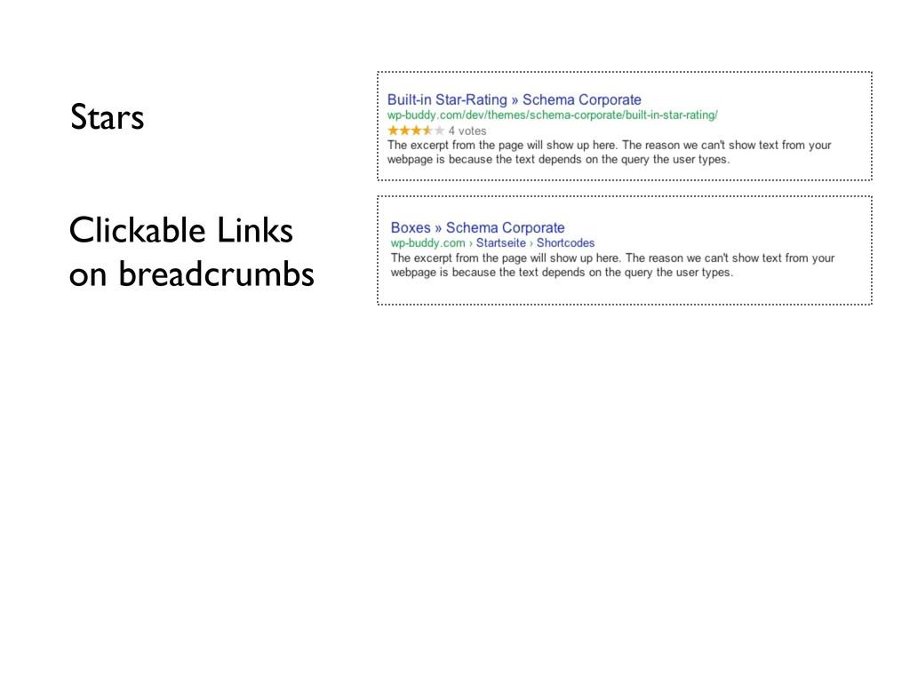 Stars Clickable Links on breadcrumbs