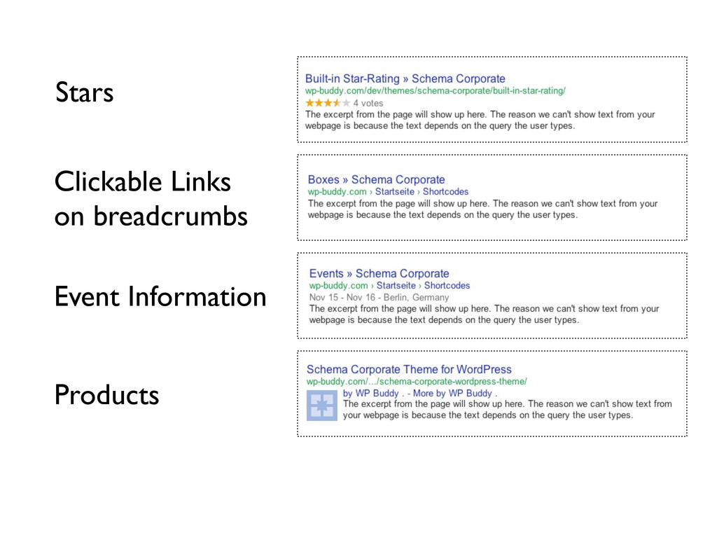 Stars Clickable Links on breadcrumbs Event Info...