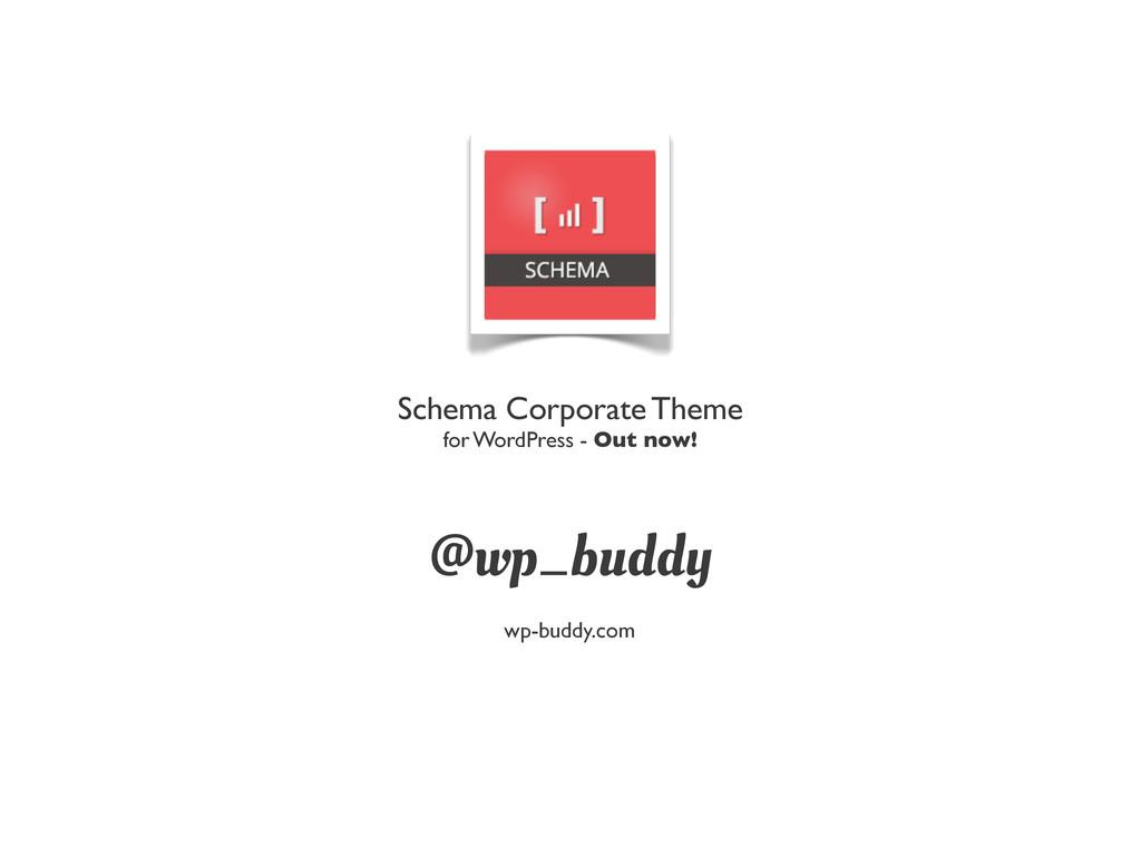 @wp_buddy Schema Corporate Theme for WordPress ...