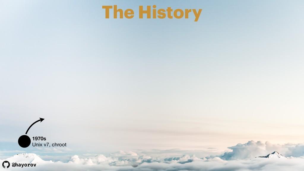 @hayorov The History 1970s Unix v7, chroot