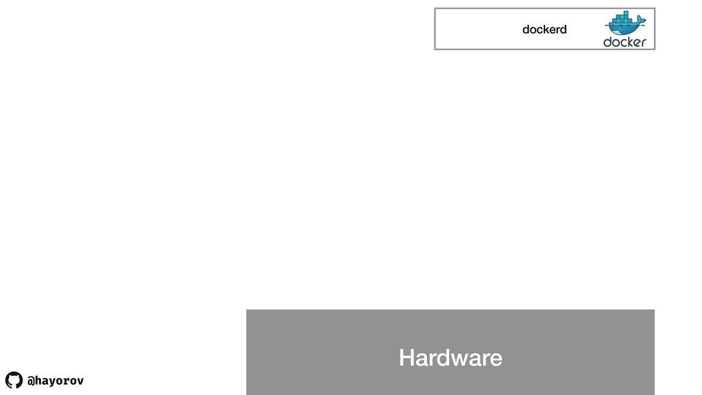 @hayorov Hardware dockerd