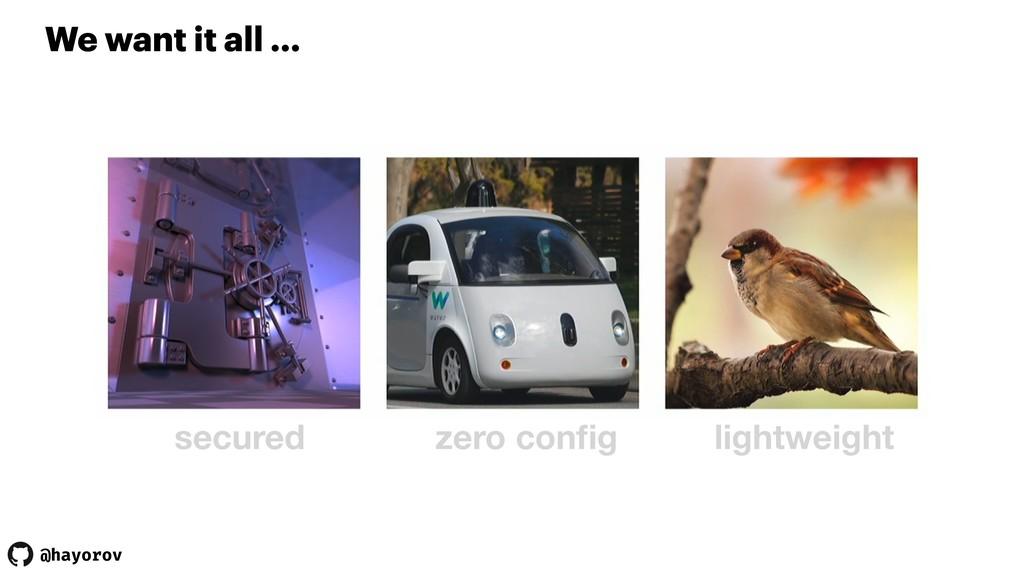 @hayorov We want it all … secured zero config li...