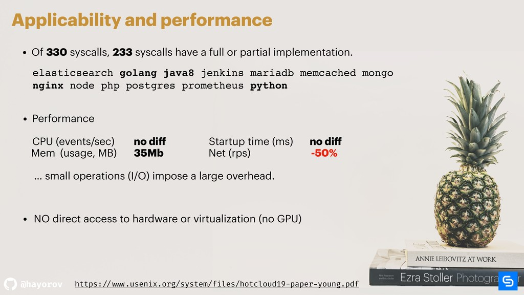 @hayorov Applicability and performance • Of 330...