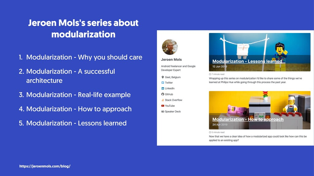 Jeroen Mols's series about modularization 1. Mo...
