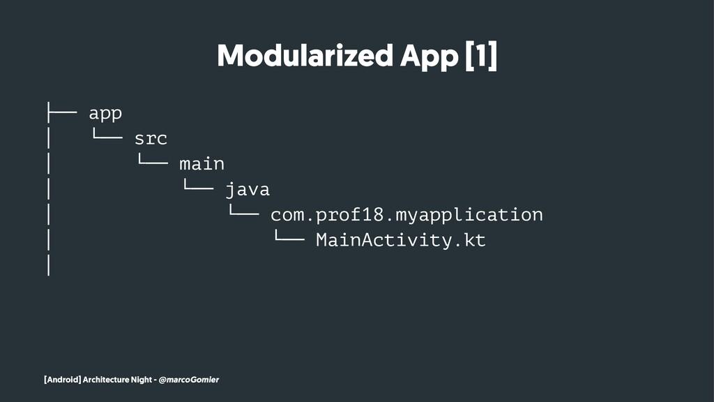 Modularized App [1] ├── app │ └── src │ └── mai...