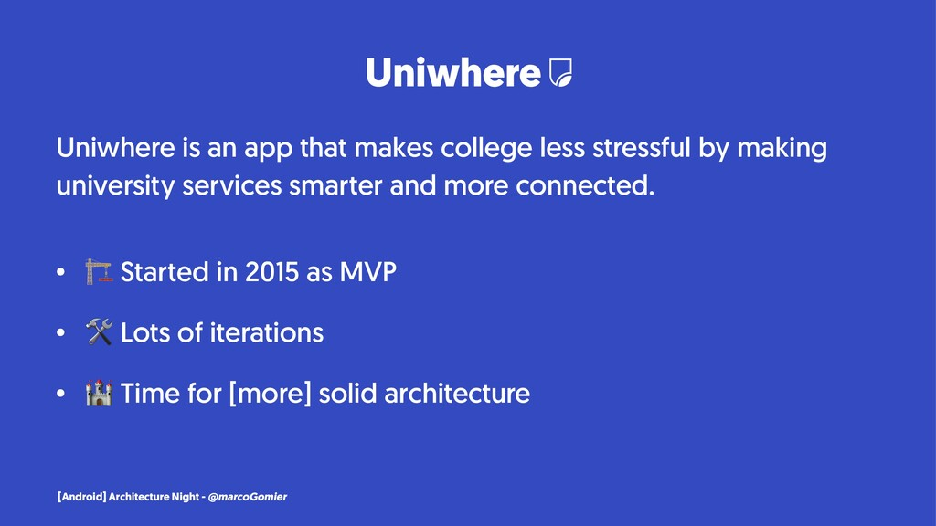 Uniwhere Uniwhere is an app that makes college ...