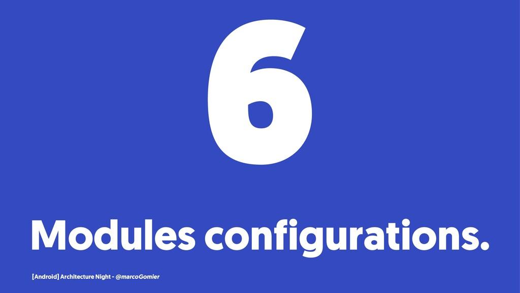 6 Modules configurations. [Android] Architectur...