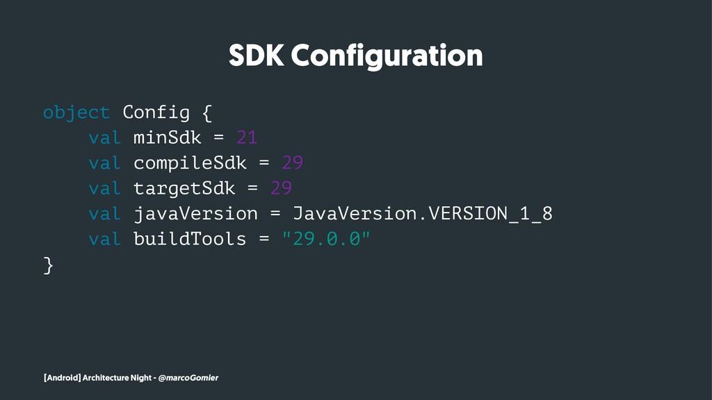 SDK Configuration object Config { val minSdk = ...