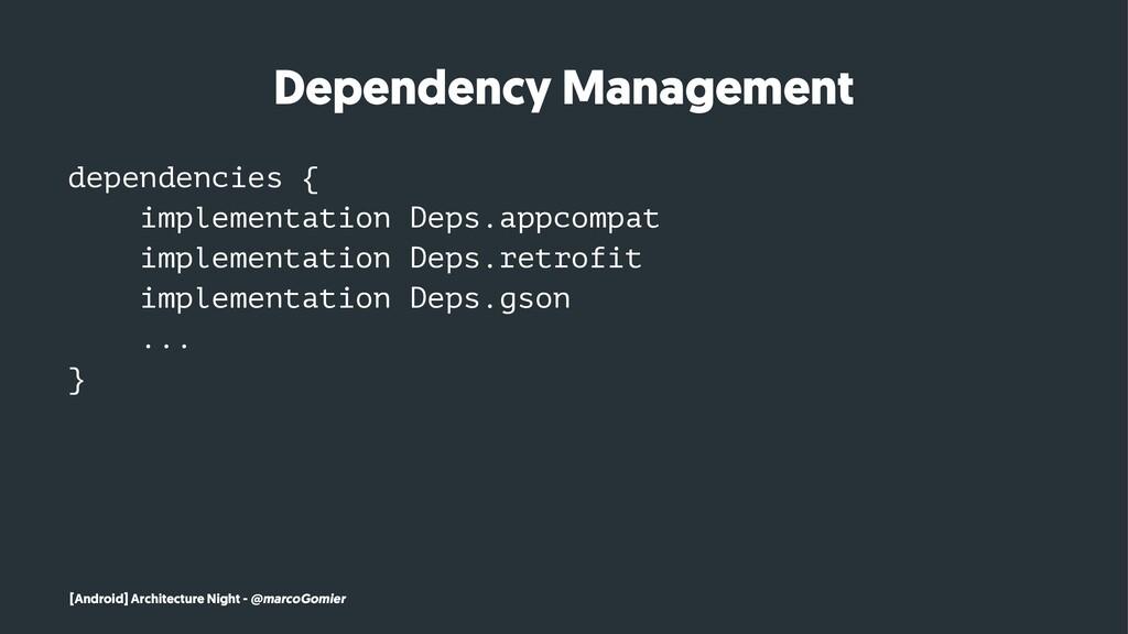 Dependency Management dependencies { implementa...