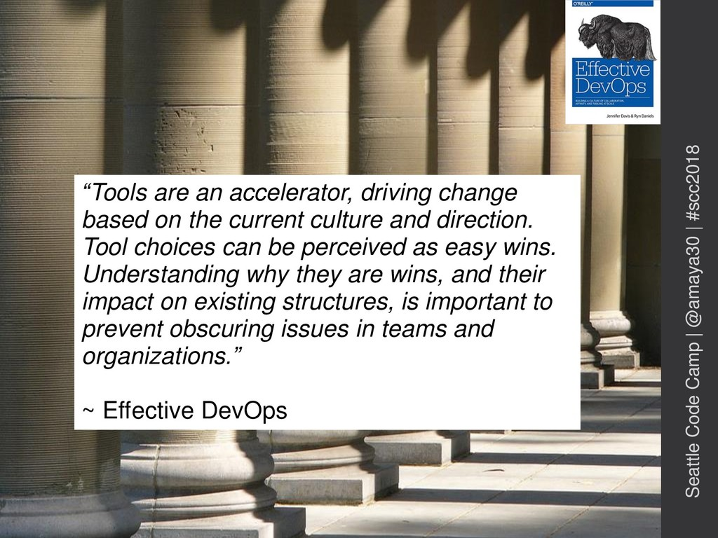 """""""Tools are an accelerator, driving change based..."""