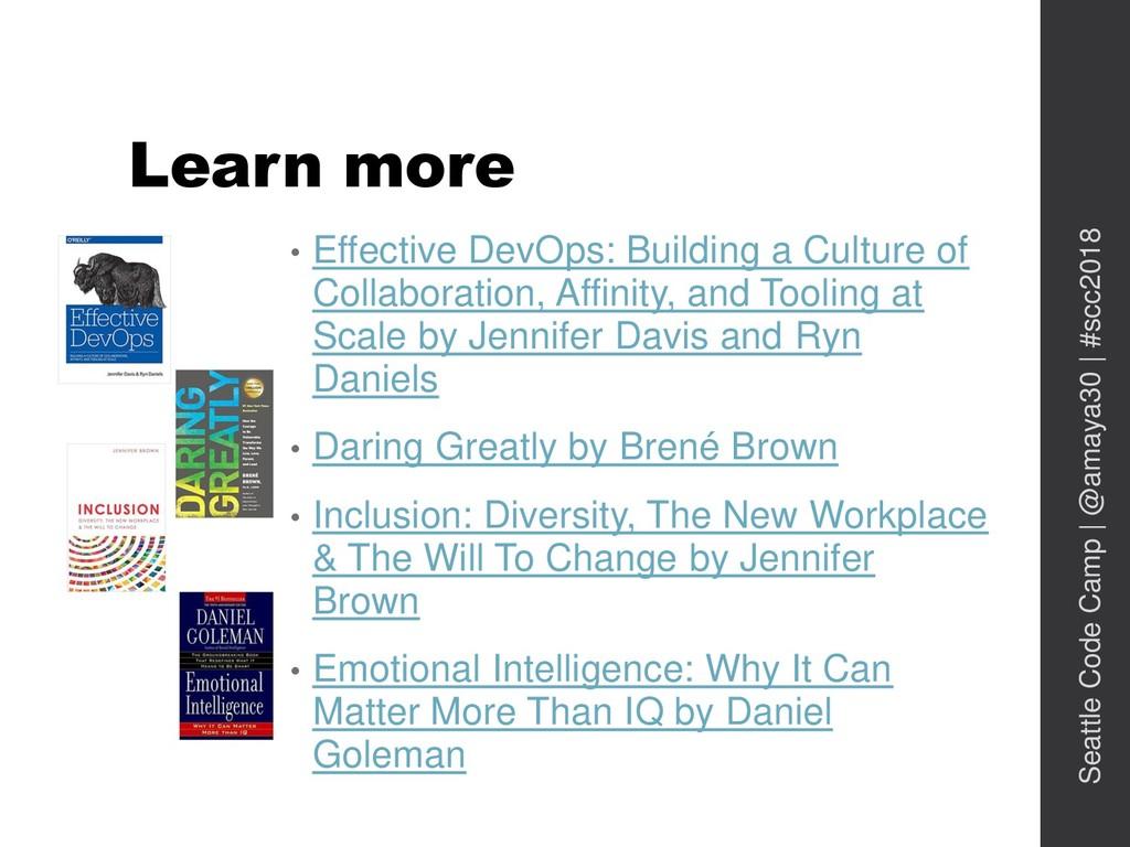 Learn more • Effective DevOps: Building a Cultu...