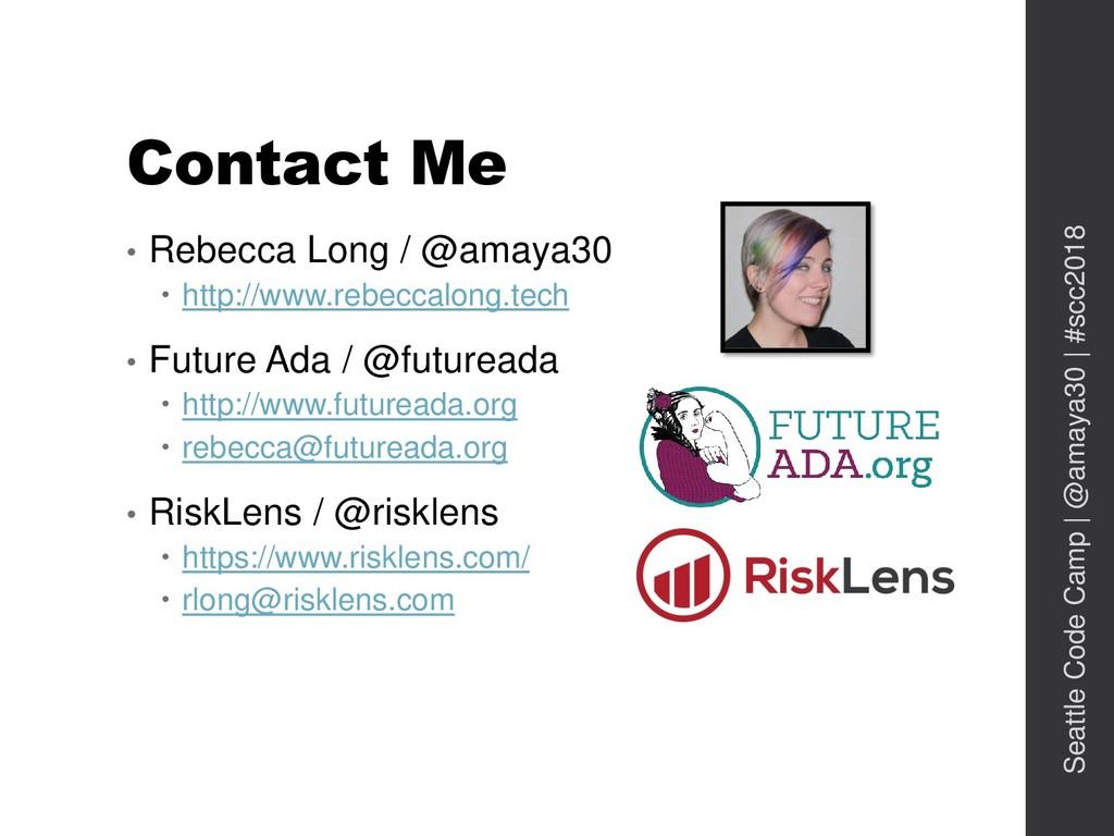 Contact Me • Rebecca Long / @amaya30  http://w...