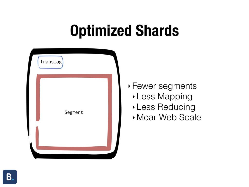 Optimized Shards ‣ Fewer segments ‣ Less Mappin...