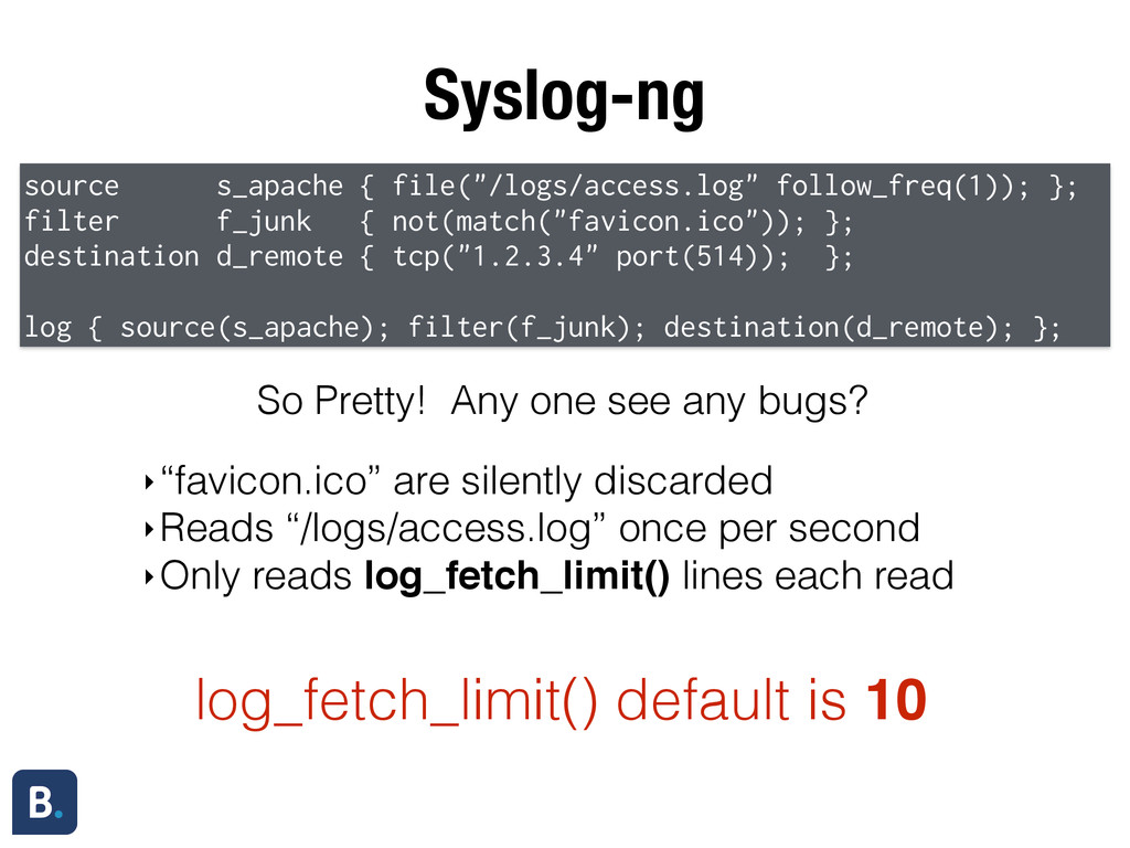 """Syslog-ng source s_apache { file(""""/logs/access...."""