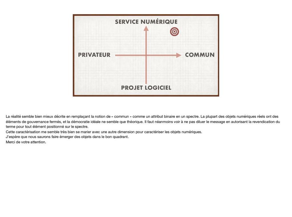 UN COMMUN PRIVATEUR SERVICE NUMÉRIQUE PROJET LO...