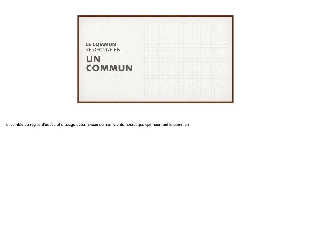 SE DÉCLINE EN LE COMMUN UN COMMUN ensemble de r...