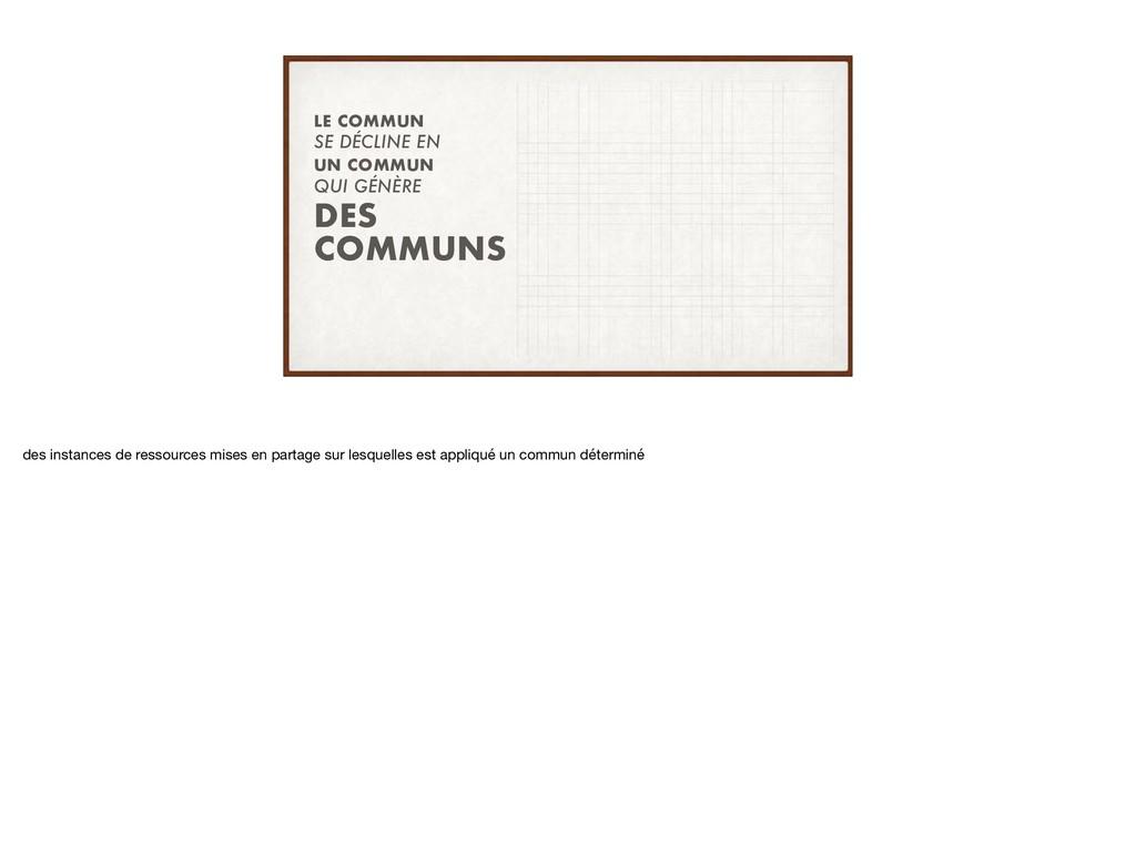 QUI GÉNÈRE SE DÉCLINE EN DES COMMUNS LE COMMUN ...