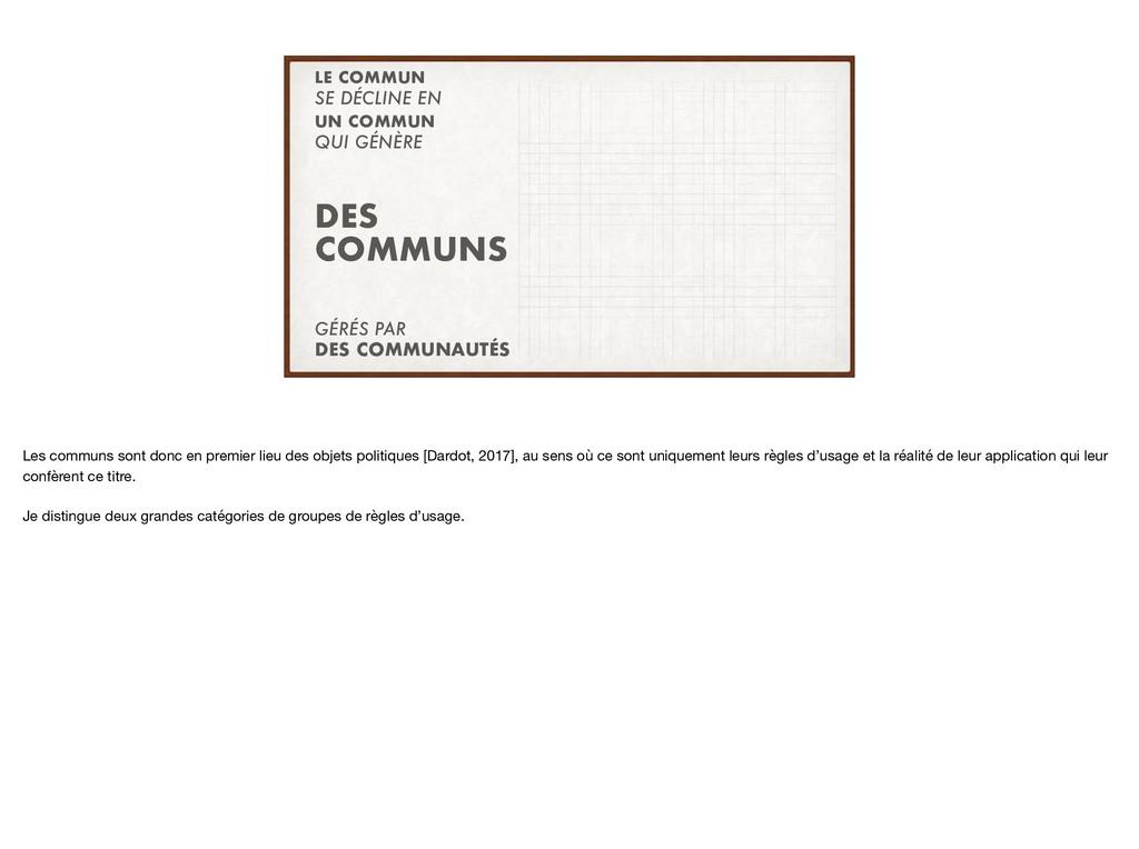 SE DÉCLINE EN QUI GÉNÈRE LE COMMUN UN COMMUN DE...