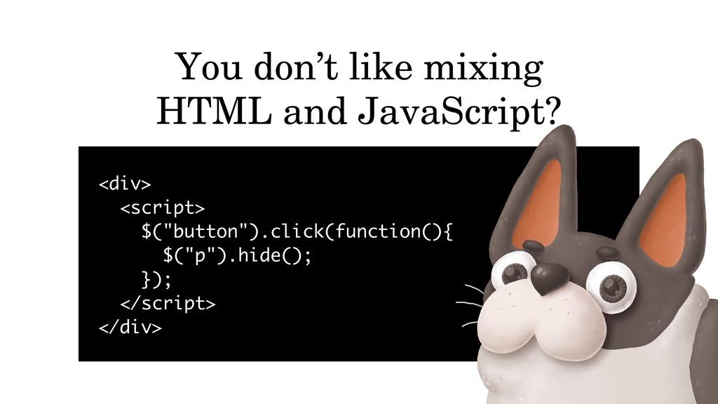 "<div> <script> $(""button"").click(function(){ $(..."