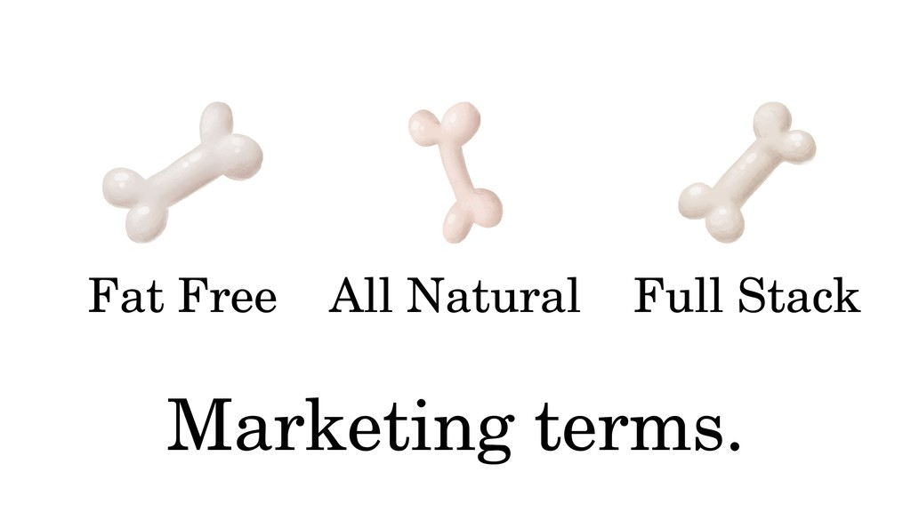 Fat Free Marketing terms. All Natural Full Stack