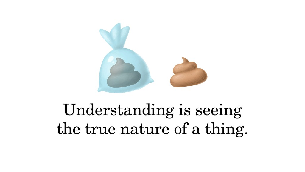 Understanding is seeing the true nature of a th...