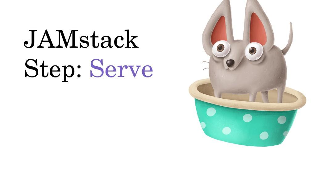 JAMstack Step: Serve