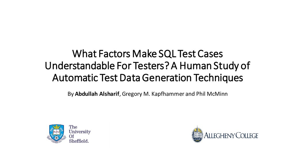 What Factors Make SQL Test Cases Understandable...