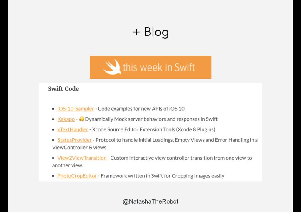 + Blog @NatashaTheRobot