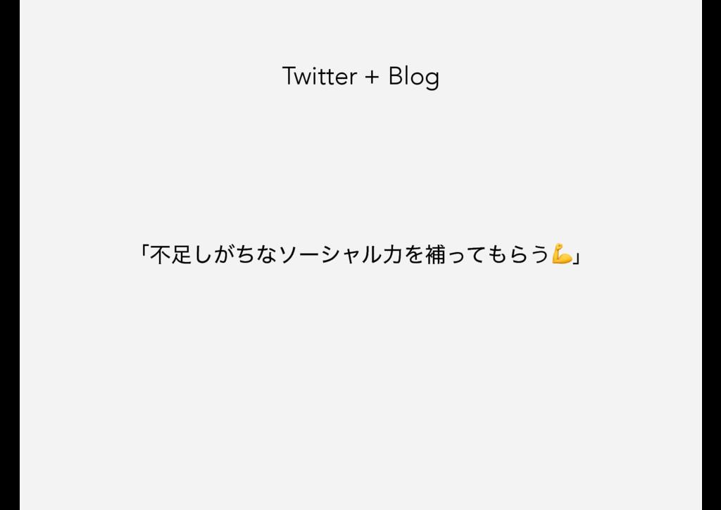 Twitter + Blog ʮෆ͕ͪ͠ͳιʔγϟϧྗΛิͬͯΒ͏ʯ