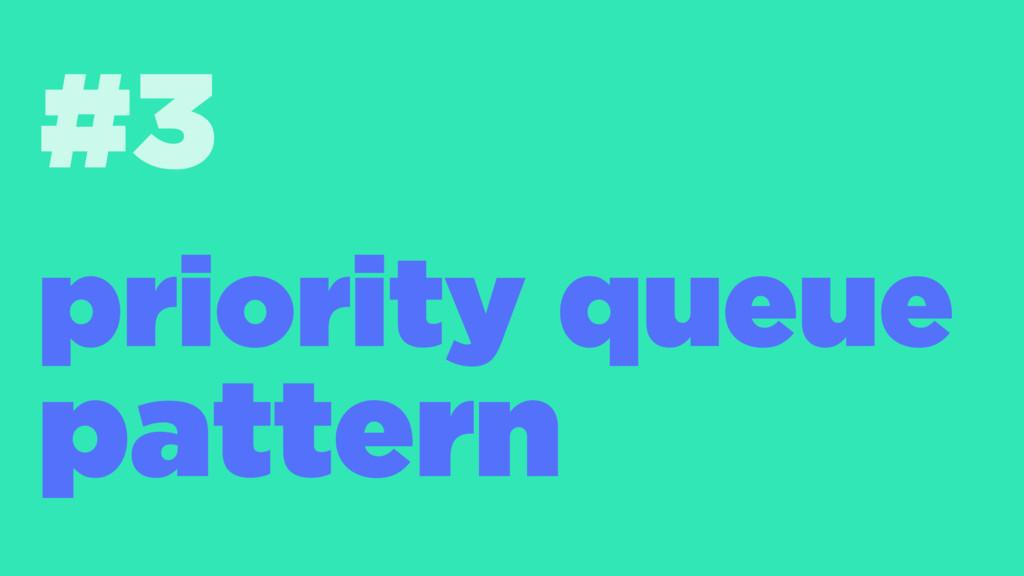 #3 priority queue pattern