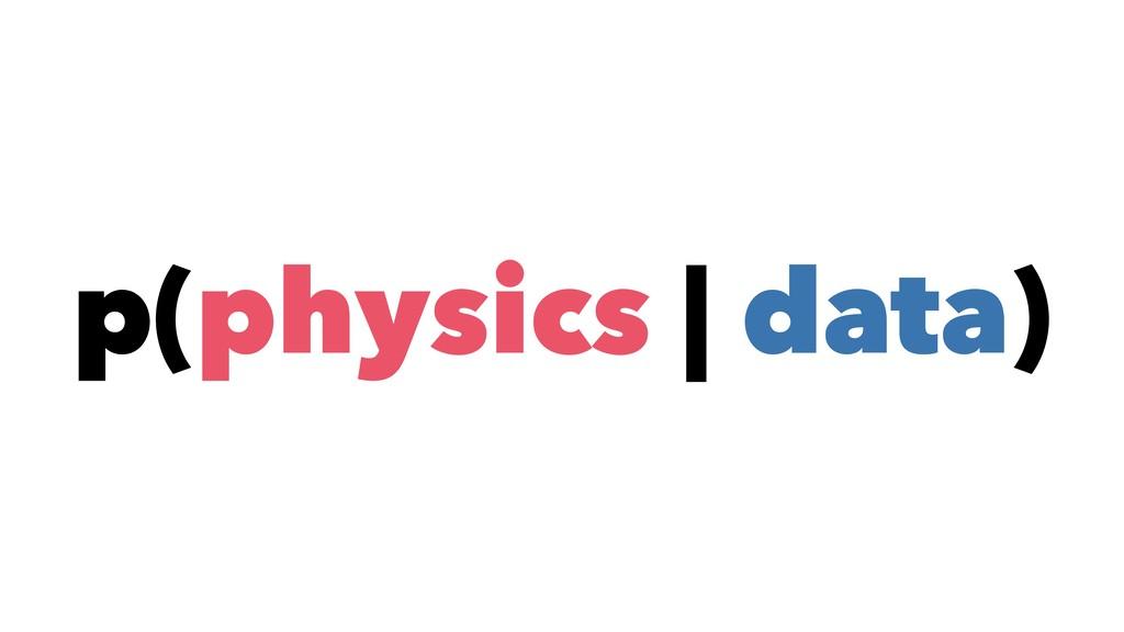 p(physics | data)