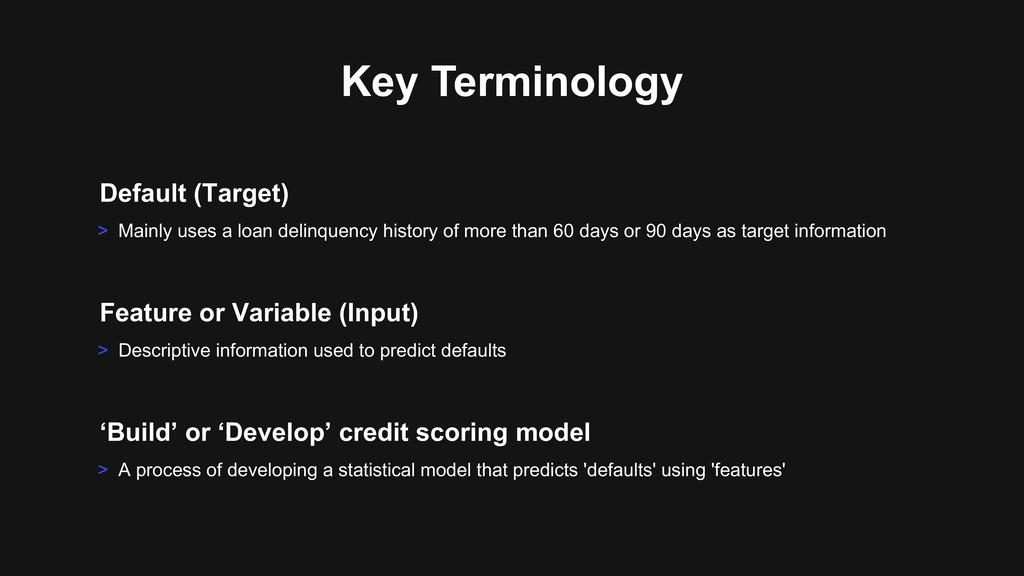 > Descriptive information used to predict defau...