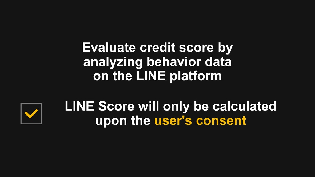 Evaluate credit score by analyzing behavior dat...