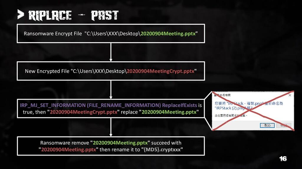 "> Ransomware Encrypt File ""C:\Users\XXX\Desktop..."