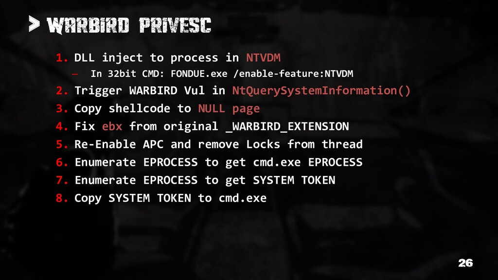 > 1. DLL inject to process in NTVDM – In 32bit ...
