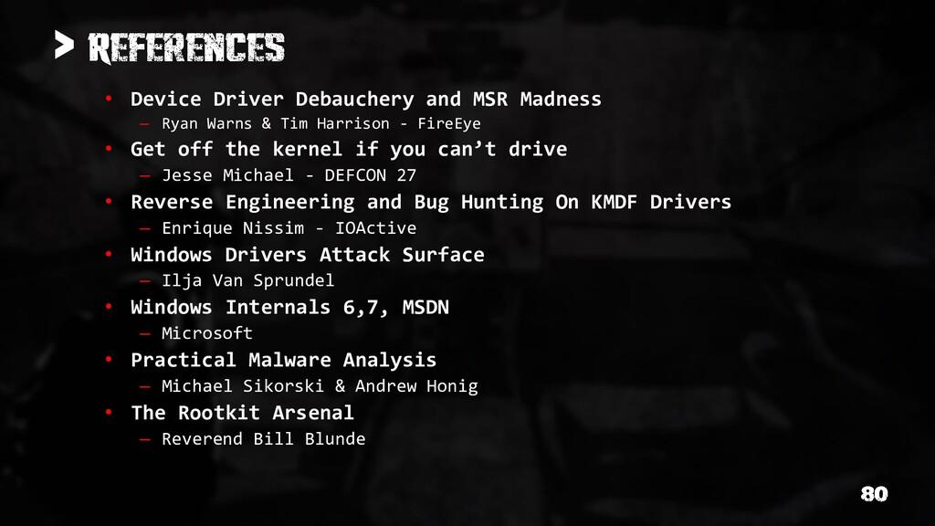> • Device Driver Debauchery and MSR Madness – ...