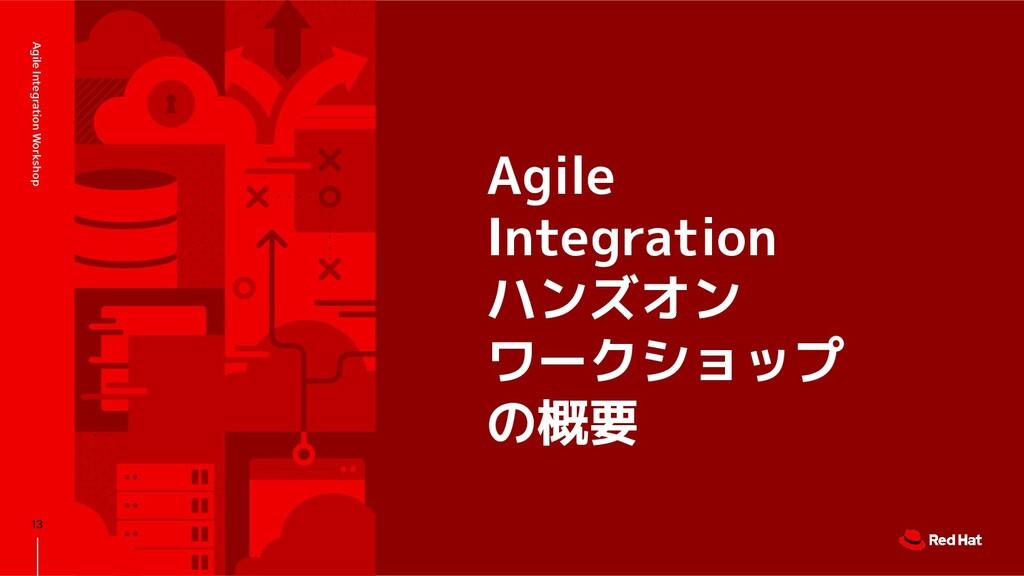 Agile Integration ハンズオン ワークショップ の概要 Agile Integ...