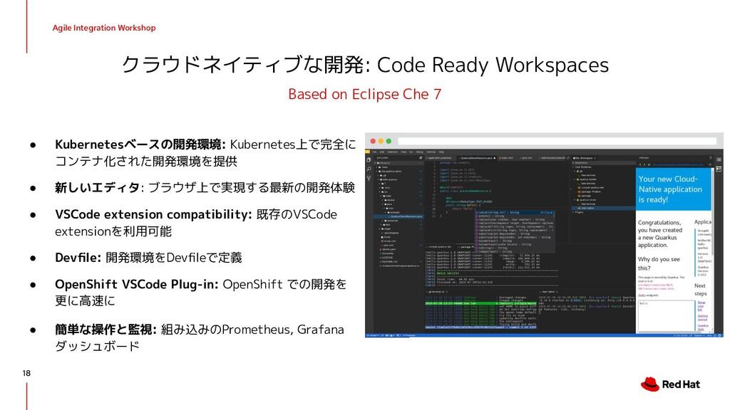 Agile Integration Workshop クラウドネイティブな開発: Code R...