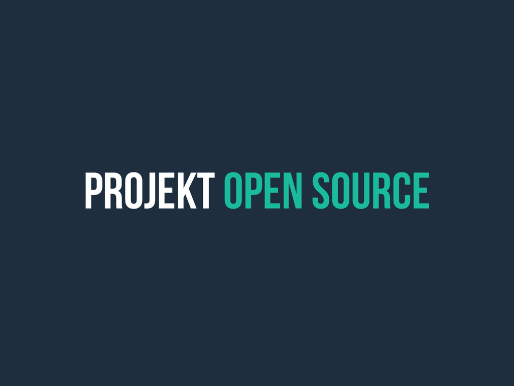 Projekt open source
