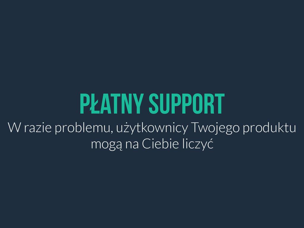 Płatny Support W razie problemu, użytkownicy Tw...
